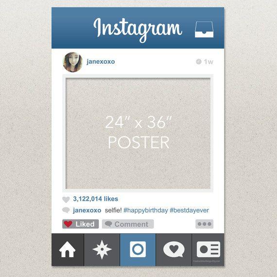 14 Instagram Frame Prop Template PSD Images