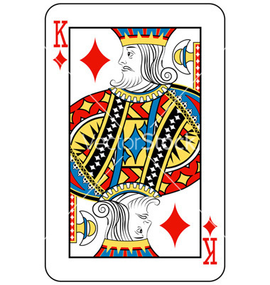 King Diamond Playing Card