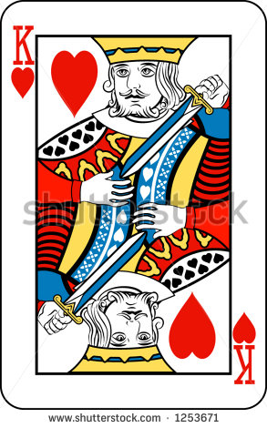 King of Hearts Deck of Playing Cards