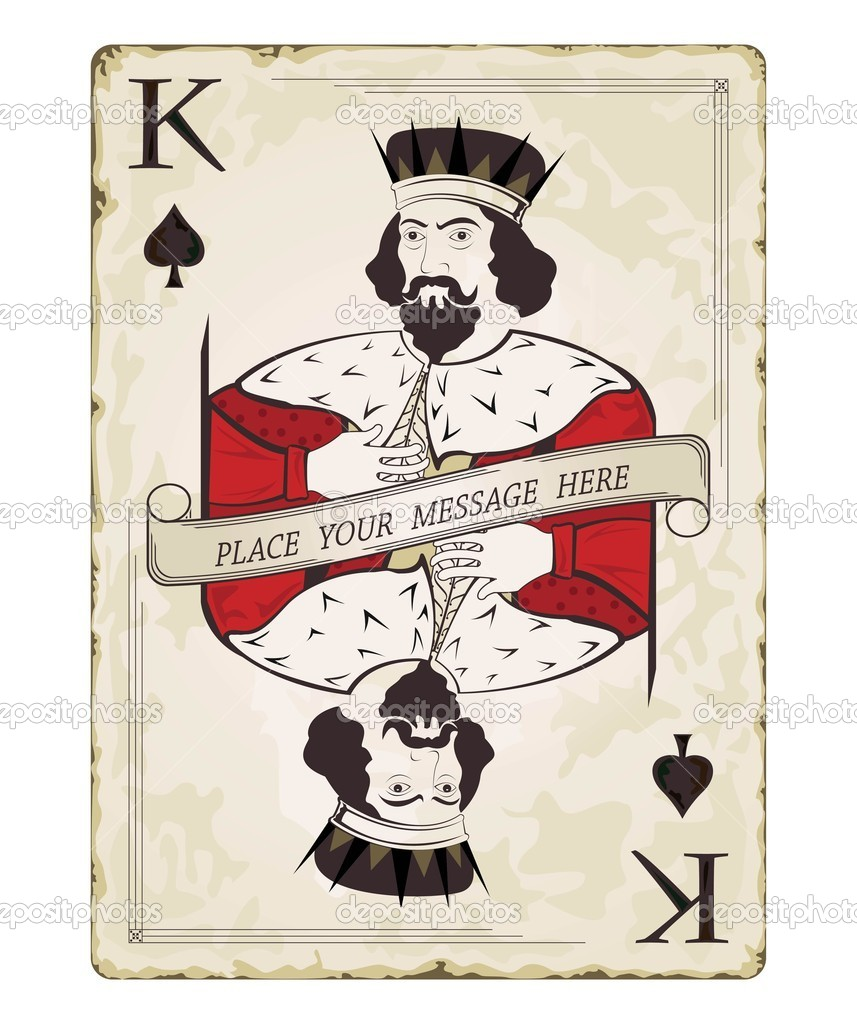 King of Hearts Vintage Card