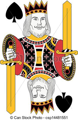 King of Spades Card Art
