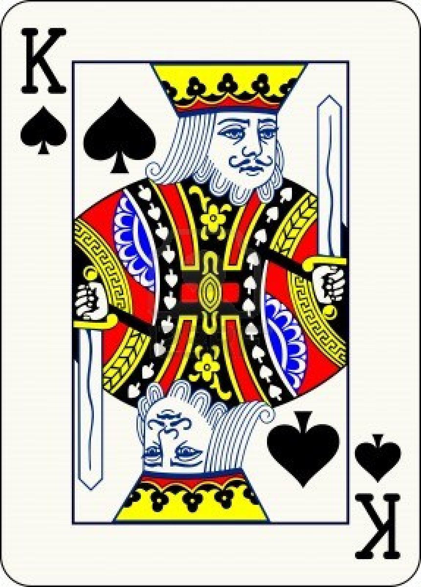 King Playing Card Art