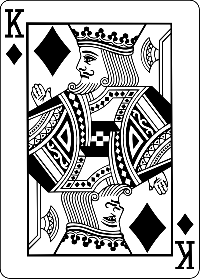 King Playing Card Drawings