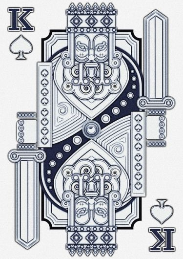 King Playing Card Spade