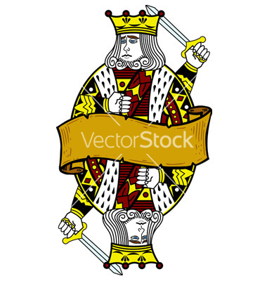 King Playing Card Vector