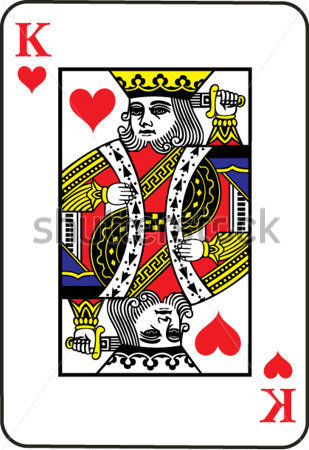 King Playing Cards Vector Hearts Clip Art