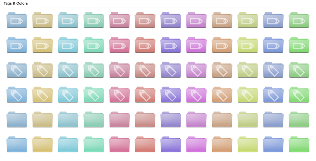 Mac Color Folders Icon