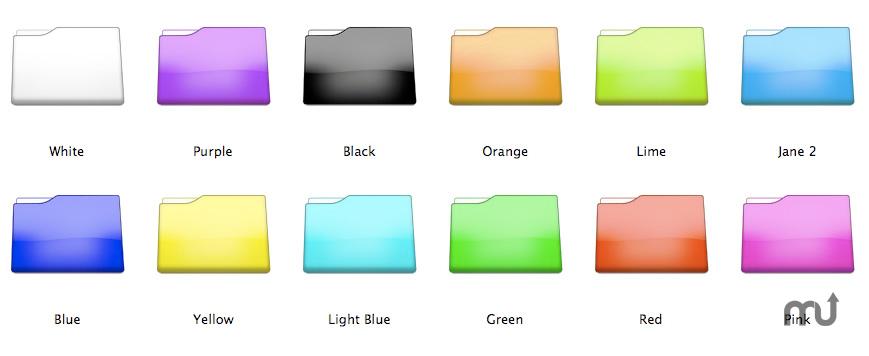 Mac Colored Folder Icons