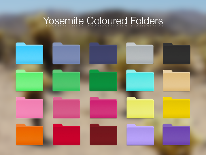 Mac Folder Icons Yosemite