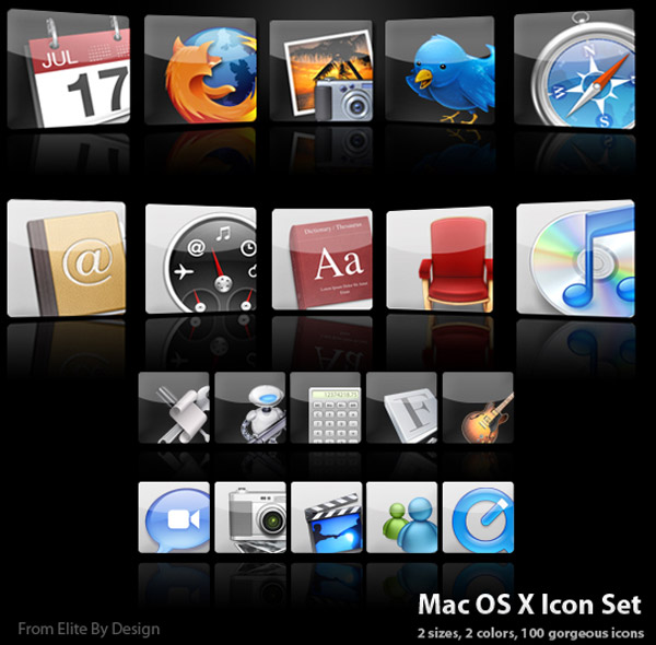 18 Vintage OS X Icon Sets Images
