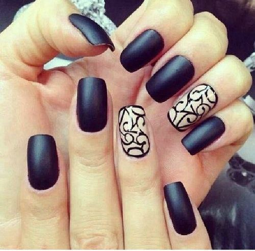 Matte Black with Design