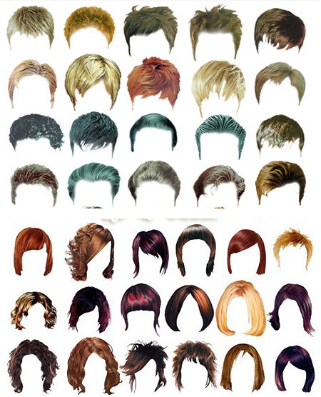 Men Hair Template Photoshop