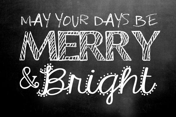 16 Chalkboard Christmas Font Images