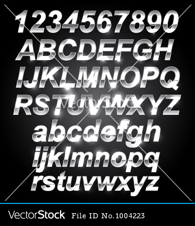 Metal Letter Font