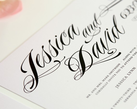 Modern Calligraphy Fonts Wedding Invitations