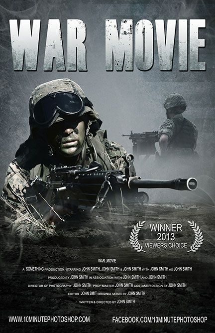 Movie poster photoshop templates