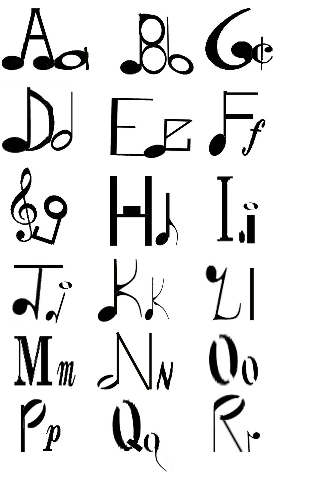 14 music the letter s font images music note letters font music symbols letters of alphabet biocorpaavc