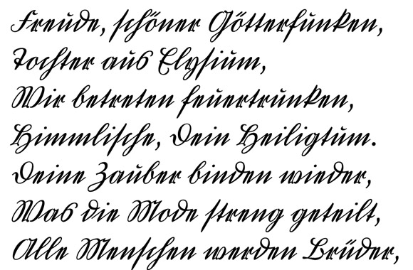 Old German Script Handwriting Font