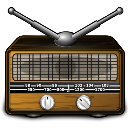 10 Vintage Radio Vector Images