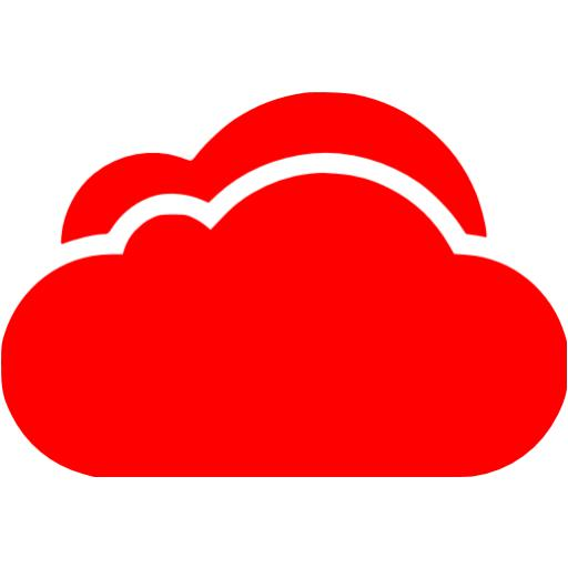 Orange Cloud Icon