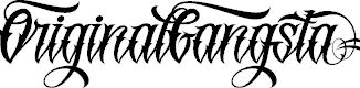 Original Gangsta Font Lettering