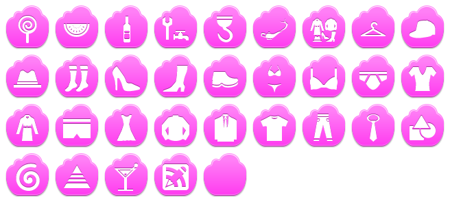 Pink Cloud Icon