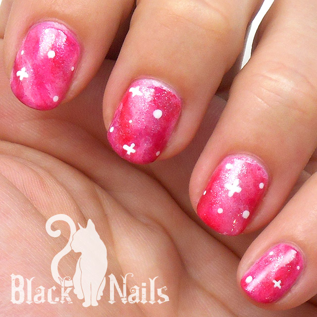 14 Pink Glitter Nail Designs Images