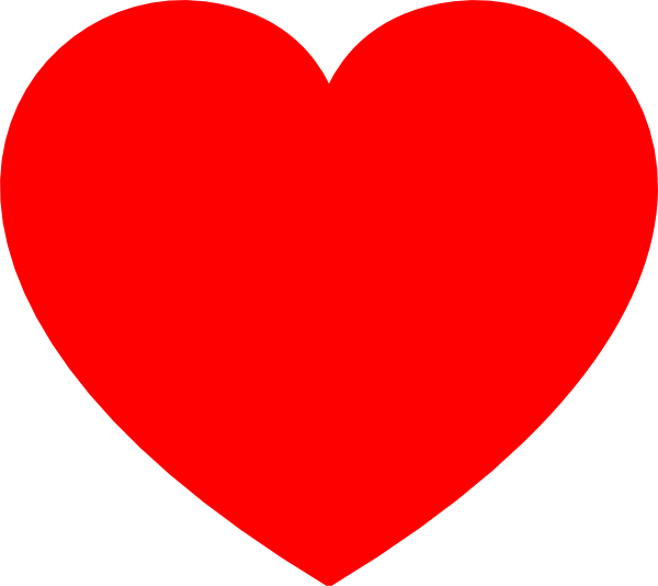 Plain Red Heart Clip Art