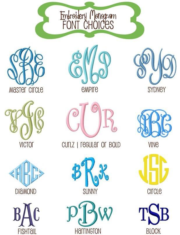 Popular Monogram Font Embroidery