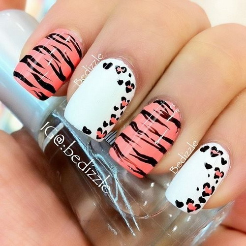 Pretty Animal Print Nails