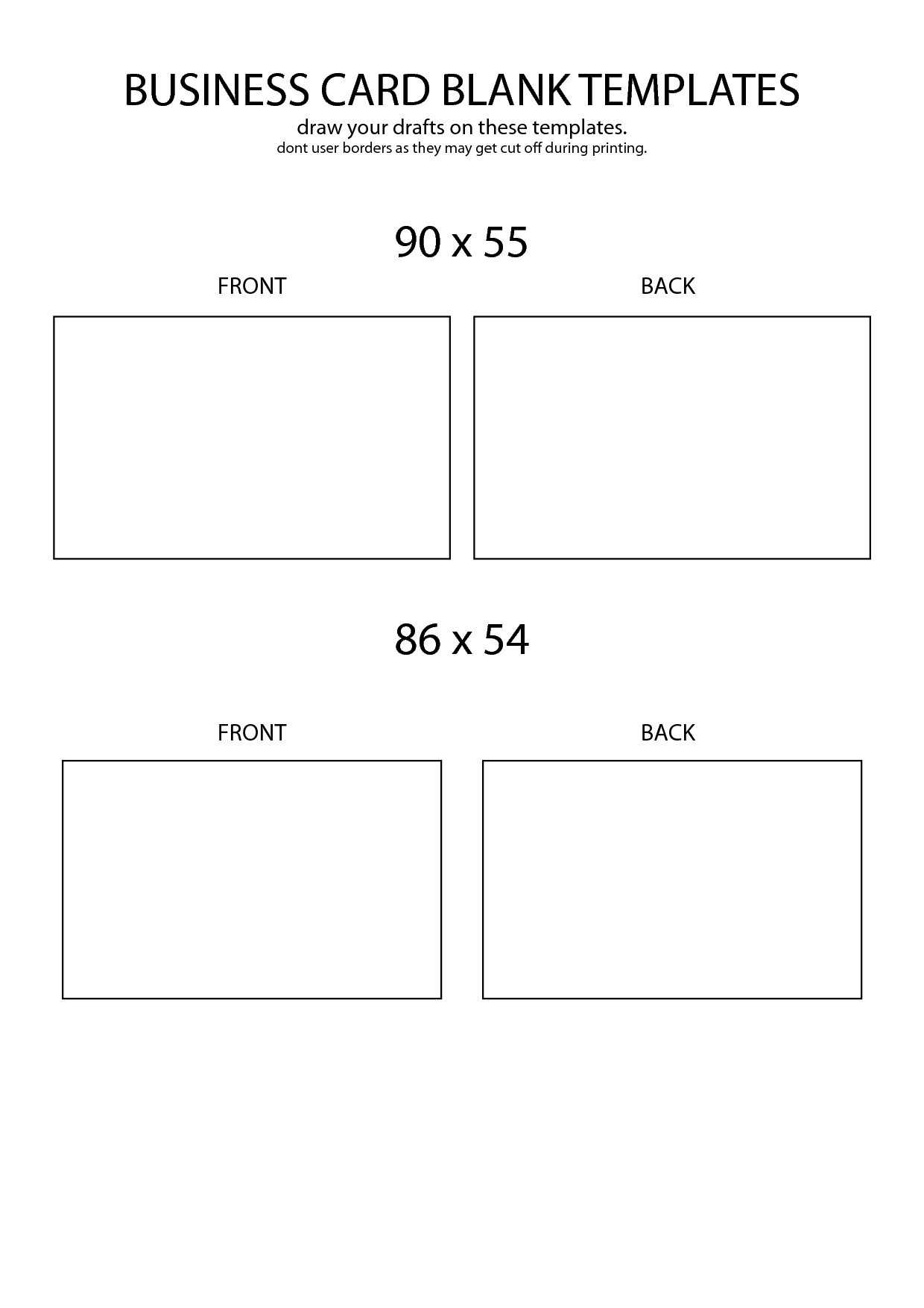 9 blank business card template images  avery blank