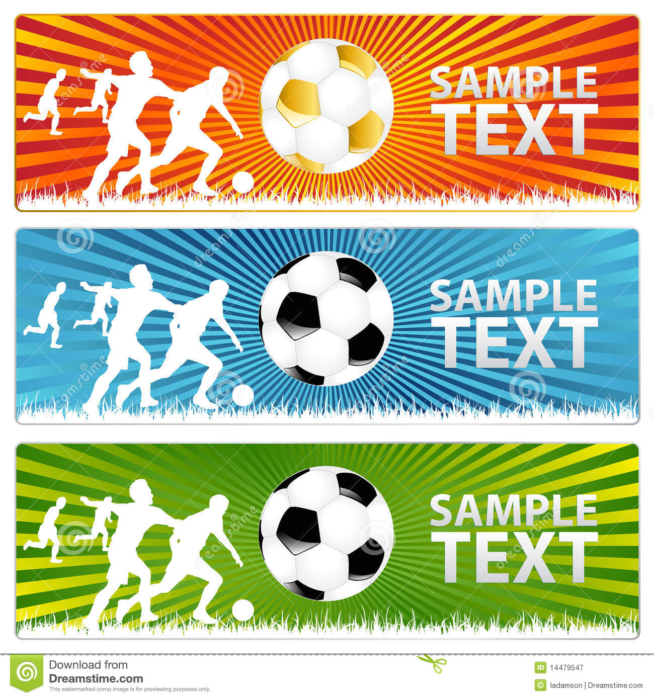 8 Soccer Banners Vectors Images
