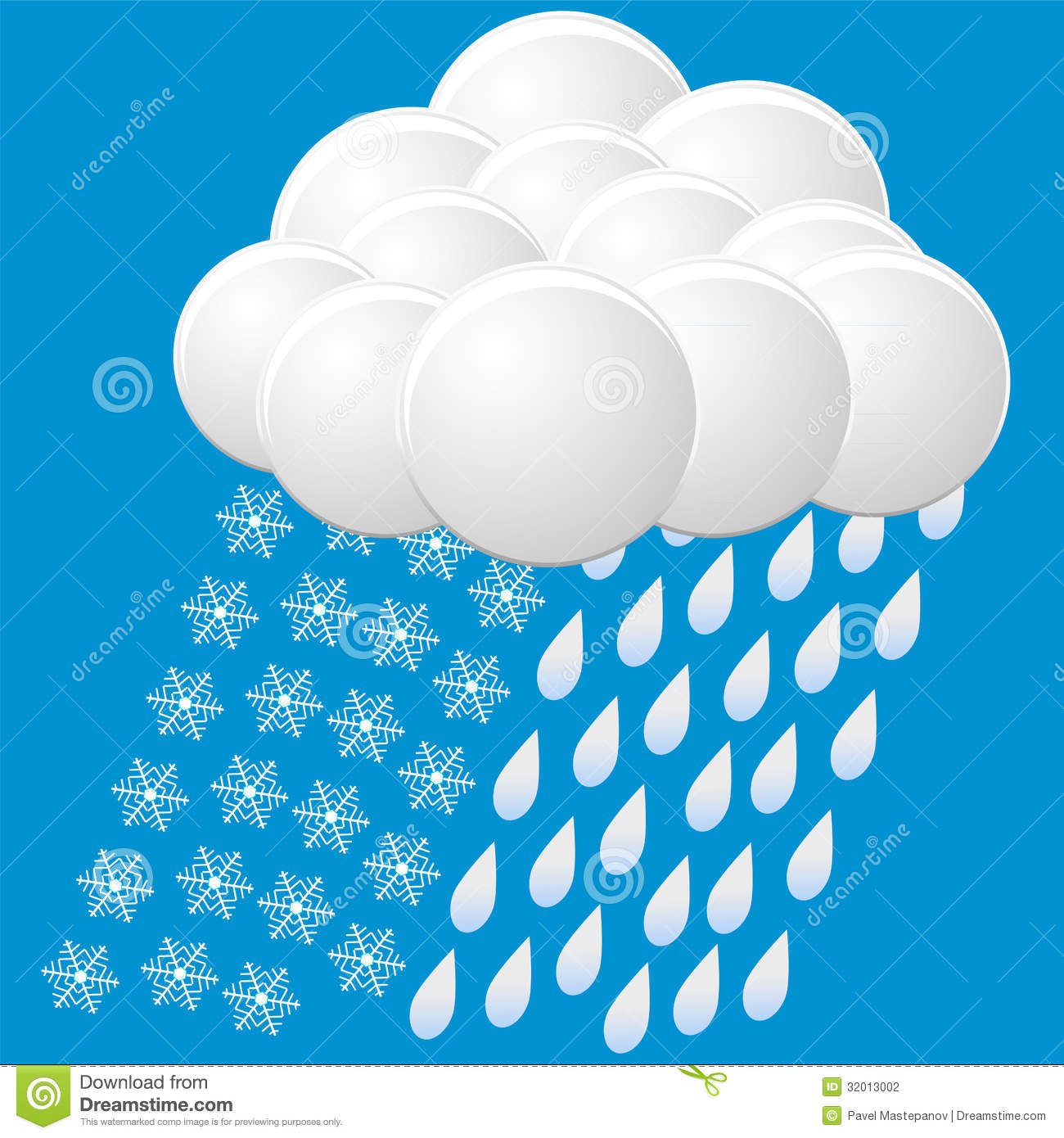 Rain and Snow Clip Art