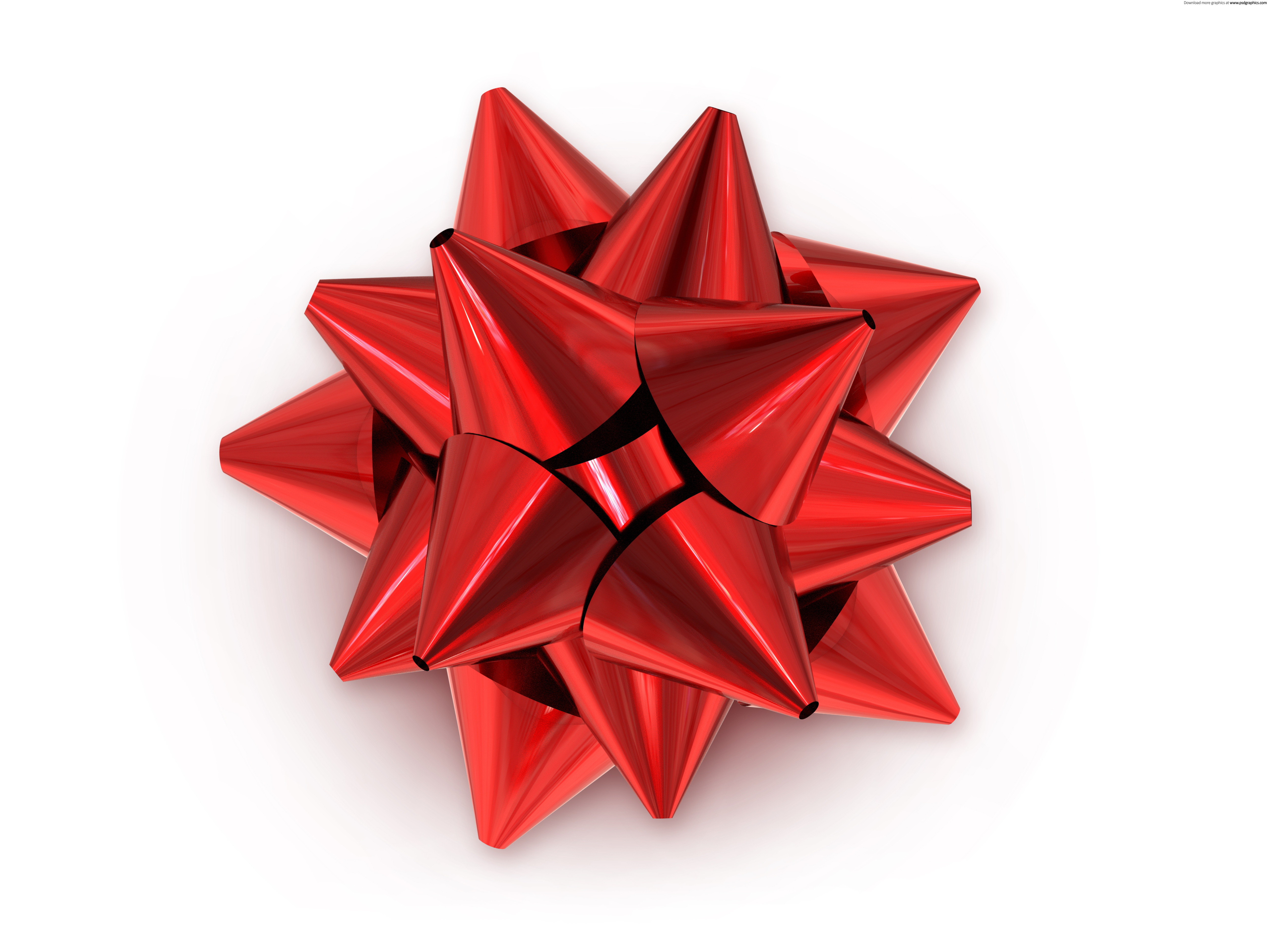 Red Christmas Bow Transparent