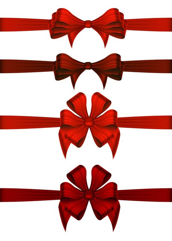 Red Ribbon Bow Vector