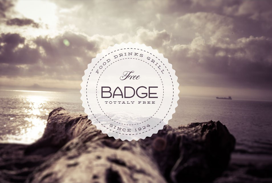 14 PSD Vintage Badges Template Images