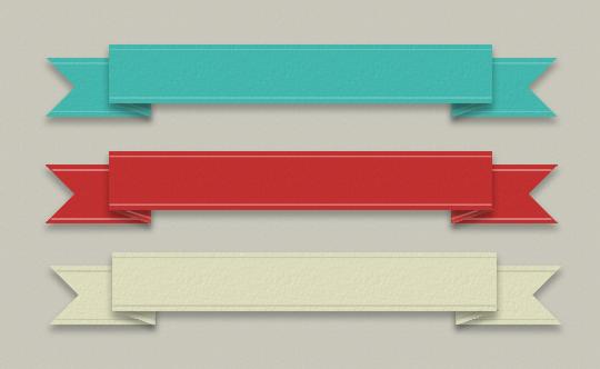 Ribbon Banner PSD