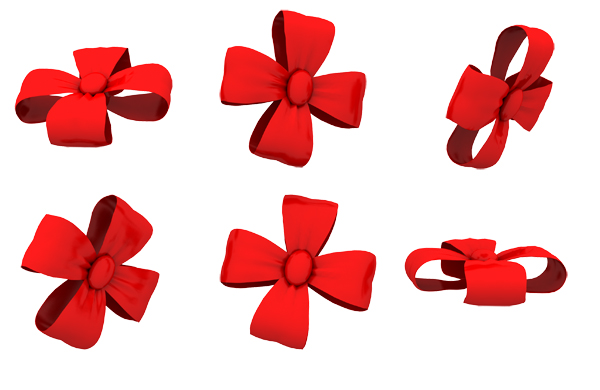 Ribbon Bow Shapes for Photoshop