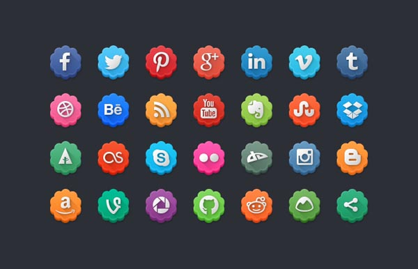 14 Social Media Icons Flower Images