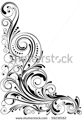 17 Abstract Swirls Vector Coners Images