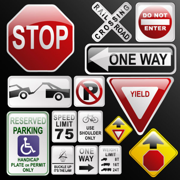 16 Traffic Sign Icons Images