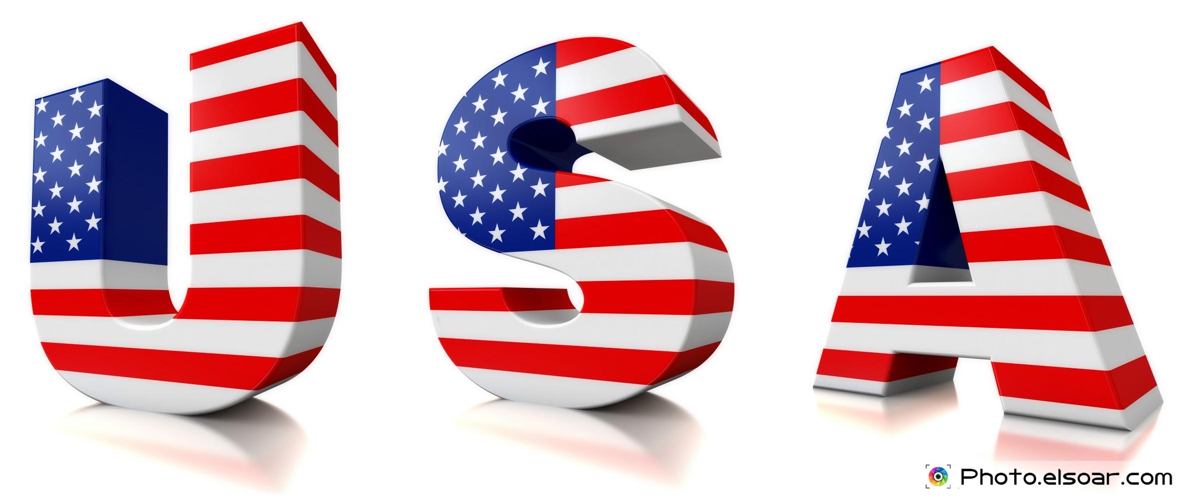 8 American Flag Font Images