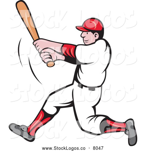 Vector Baseball Player Clip Art