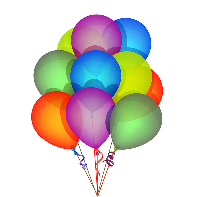 Vector Birthday Balloons
