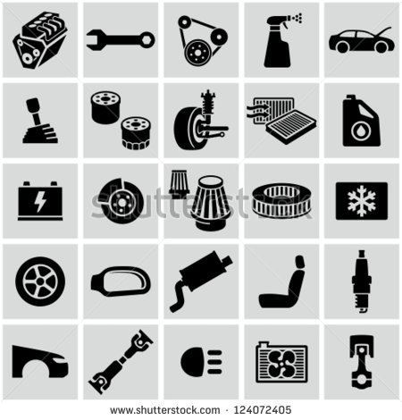 14 Free Vector Car Parts Images