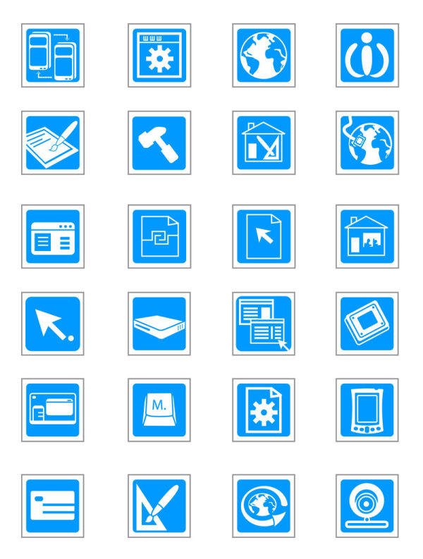 16 Information Technology Icon Set Free Images