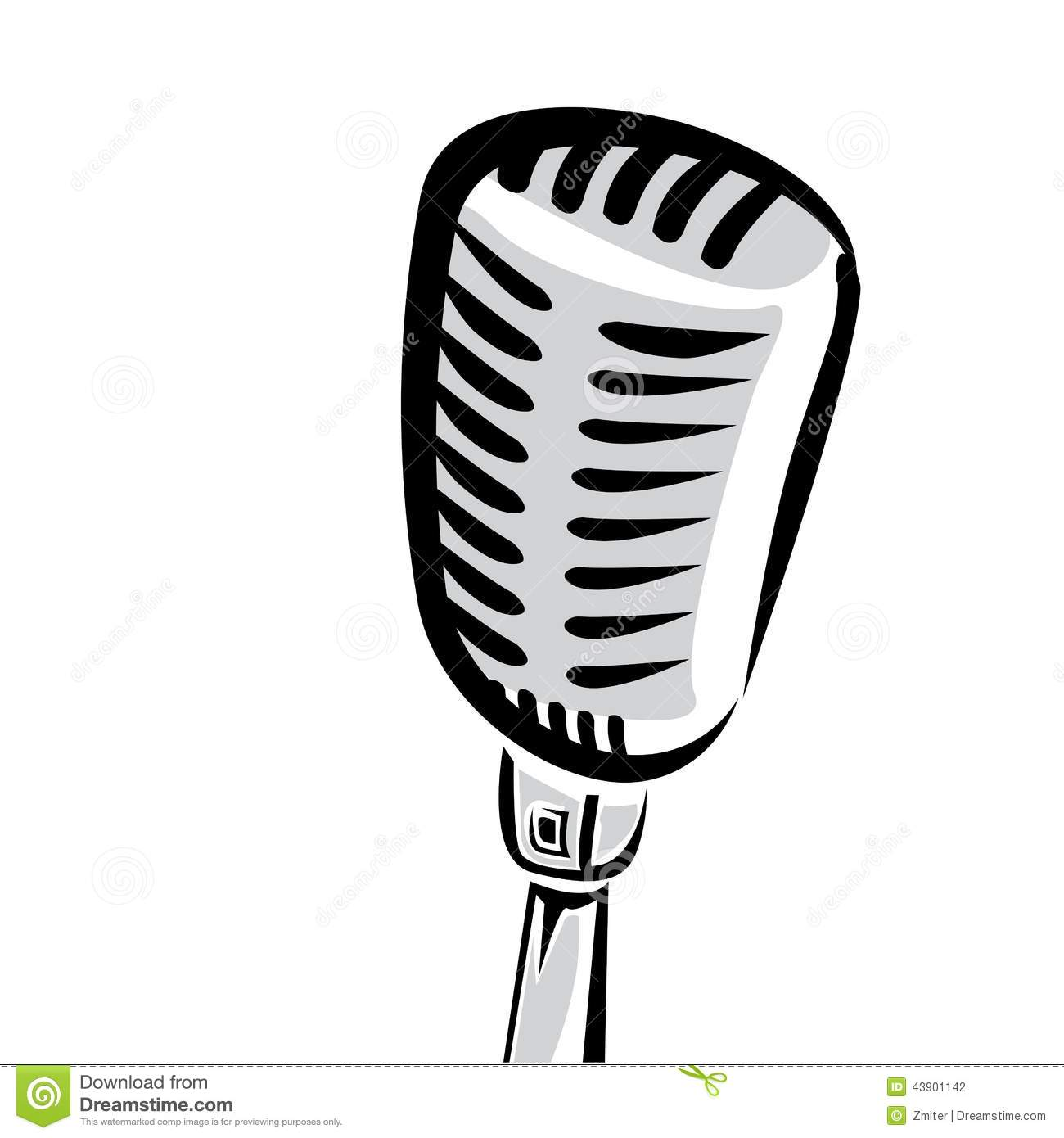 9 Microphone Silhouette Vector Images