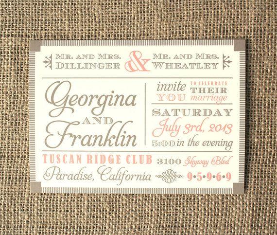 Vintage Wedding Invitation Font