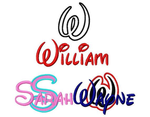 Walt Disney Embroidery Font