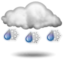Weather Channel Rain Snow Icon